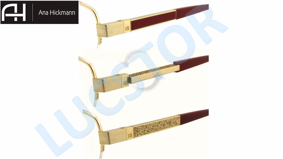 armação ana hickmann ah1284-53-04b feminina haste giratoria. Carregando  zoom. 7216513648