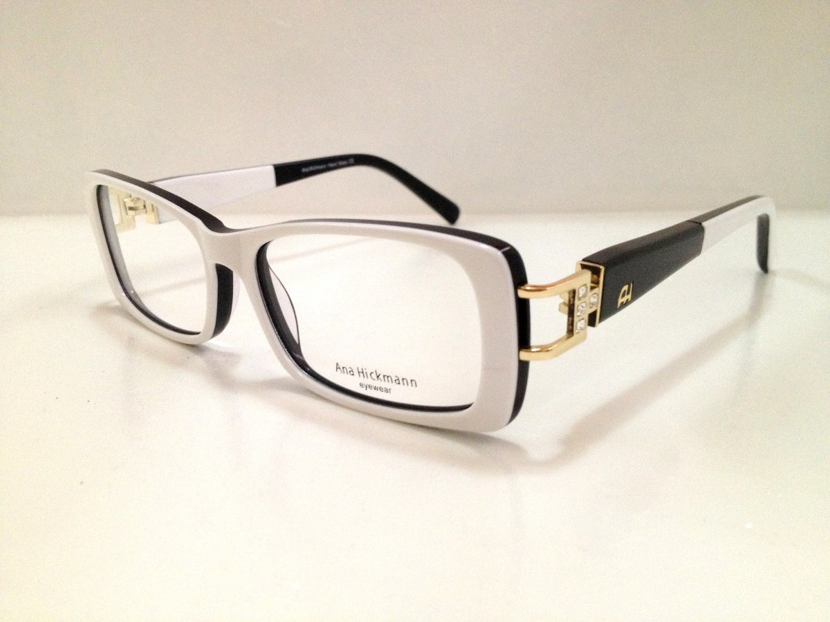 armação ana hickmann duo fashion acetato branco c  preto. Carregando zoom. 1c2237130a
