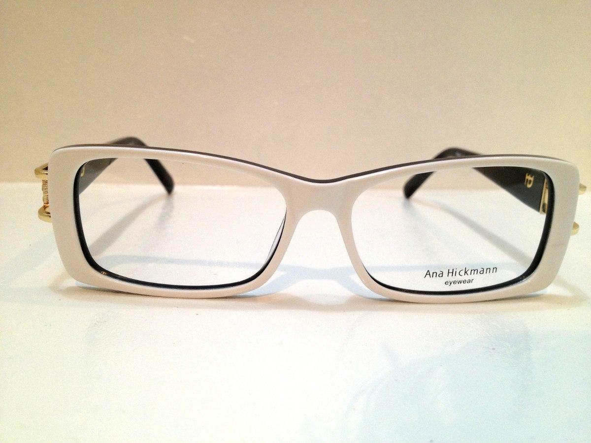 Armação Ana Hickmann Duo Fashion Branco C  Preto - R  259,00 em ... 92ed1df2a0