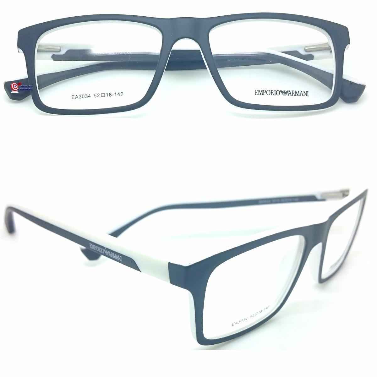 Armação Armani P  Óculos De Grau Masculina Feminina Cores - R  106 ... 400a95ceb9