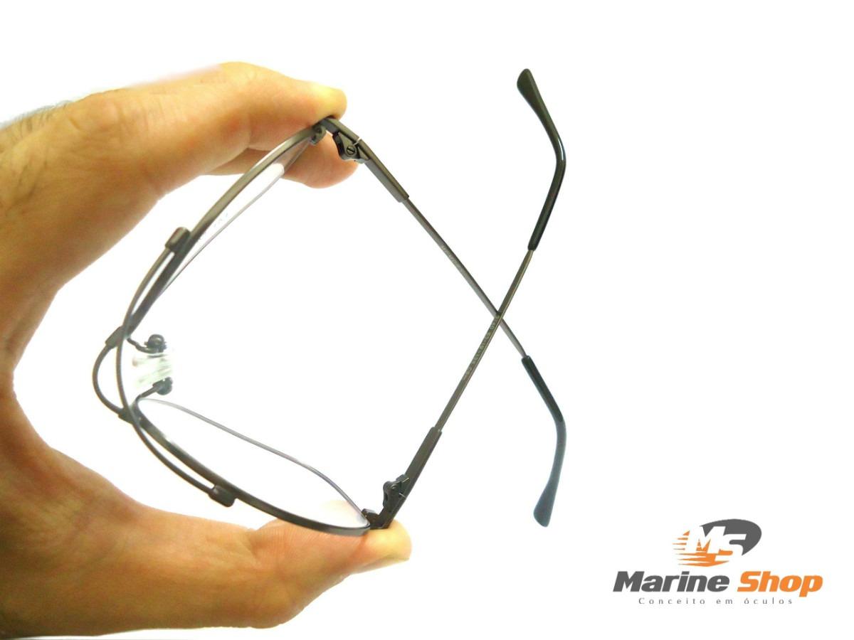 59d28b491f628 armação aviador flexível titânio dourado dourada óculos grau. Carregando  zoom.
