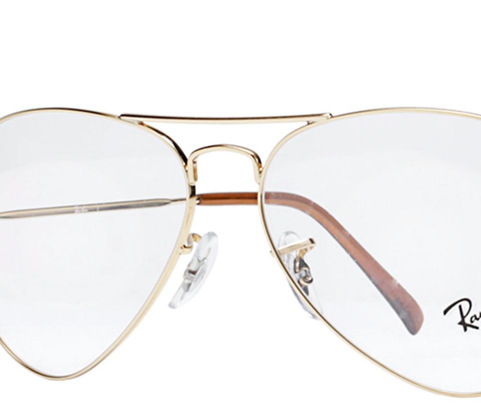 e5fa2ef73 armação aviador para óculos de grau da ray ban dourado. Carregando zoom.