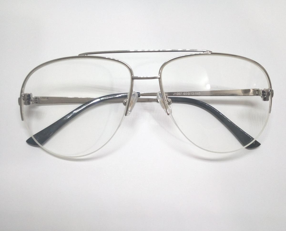 b6c2cf5f48926 Armação Aviador Versace Semi Aro Óculos De Grau - R  119