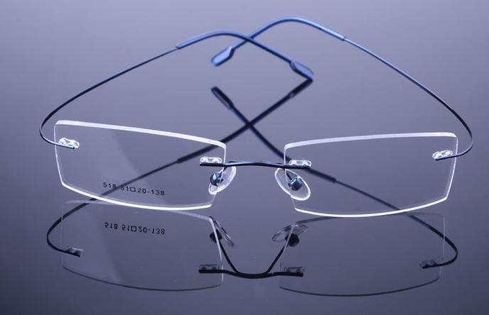 ffc414155 Armação Azul Titanium Óculos De Grau Confortavel Leve A574 - R$ 69 ...