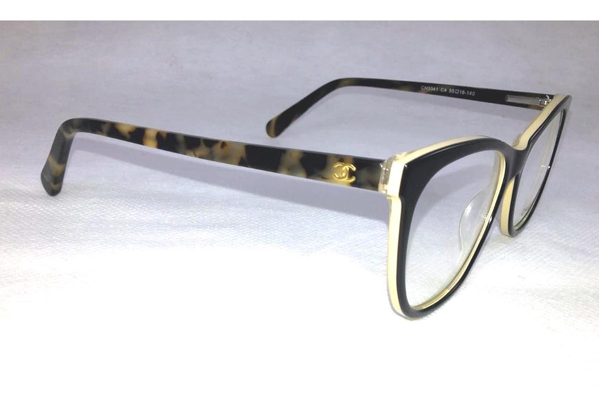 armação chanel óculos grau feminino acetato 3341 qualidade. Carregando  zoom... armação chanel óculos. Carregando zoom. e0fcb5e0b9