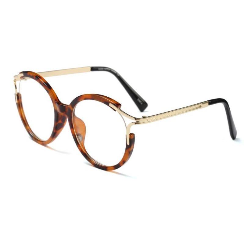 dd96e43dee817 armação chloe leopard para óculos de grau com hastes dourada. Carregando  zoom.
