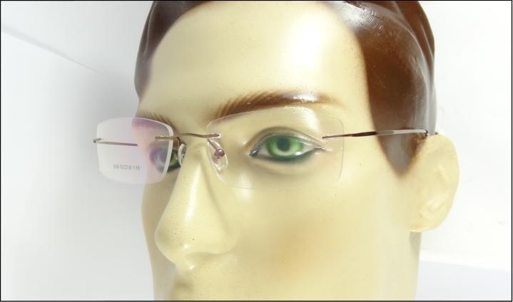 dd7a03729 Armação Cor Café Feita De Titanium Óculos Grau Sem Aro A576 - R$ 69,99 em  Mercado Livre