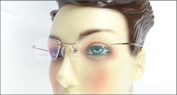 44bdba66fc996 Armação Cor Cobre Feita Titanium Óculos De Grau Sem Aro A576 - R  69 ...