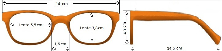 Armação Cores Unissex Óculos Com Lentes Sem Grau Ótica 51077 - R  25 ... 8ba0e2844d