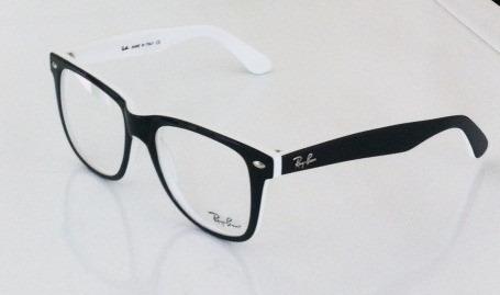 armação òculos de grau quadrado masculino feminino branca