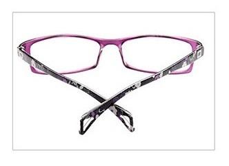 99716e1143248 Armação D Óculos Para Grau Flexível Preto Roxo 2208 C38 Mj - R  49 ...