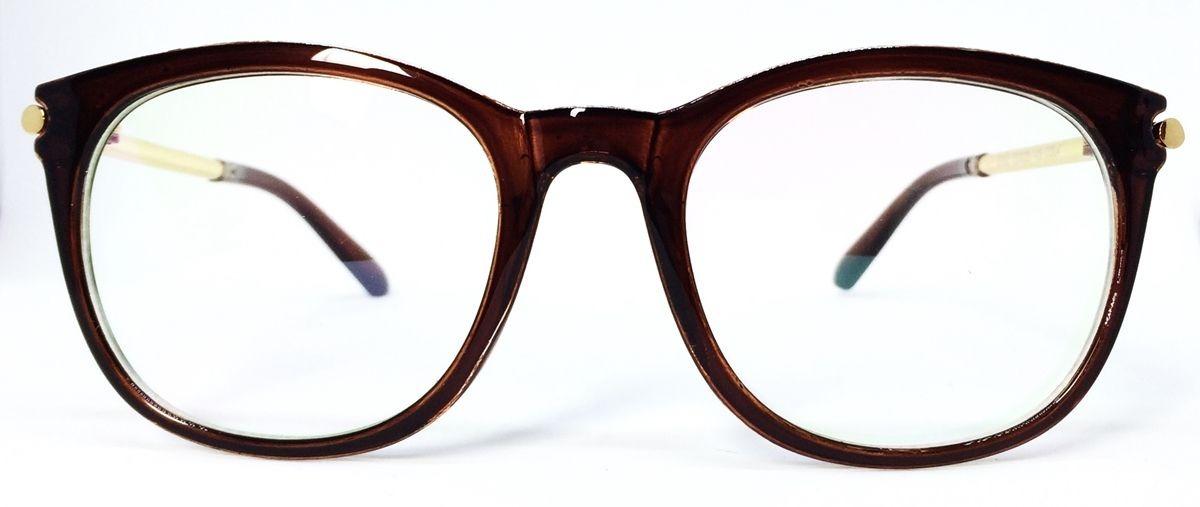 Armação De Acetato Para Óculos De Grau Vintage + Brinde - R  64,99 ... 9727c70831