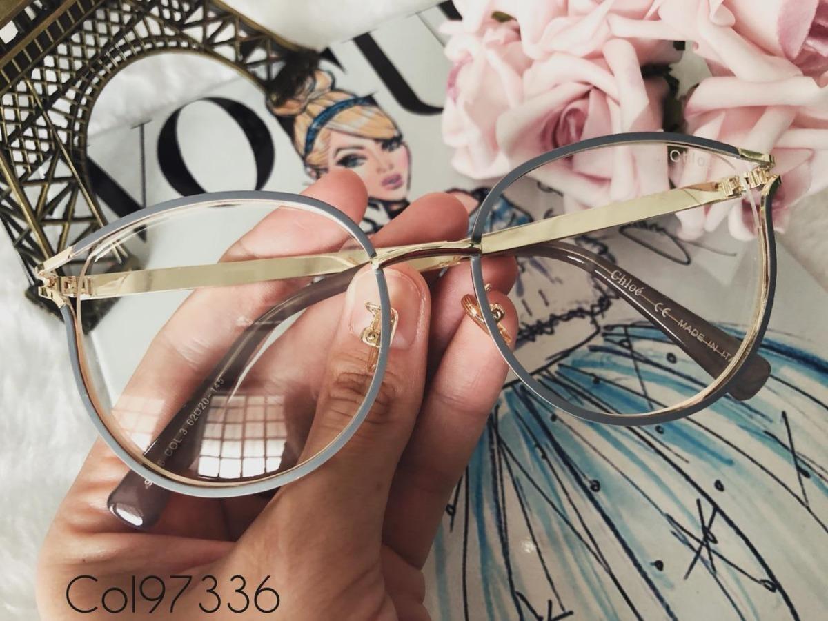 378a440453a51 armação de grau feminina chloé + case luxo+ flanela +brinde. Carregando  zoom.