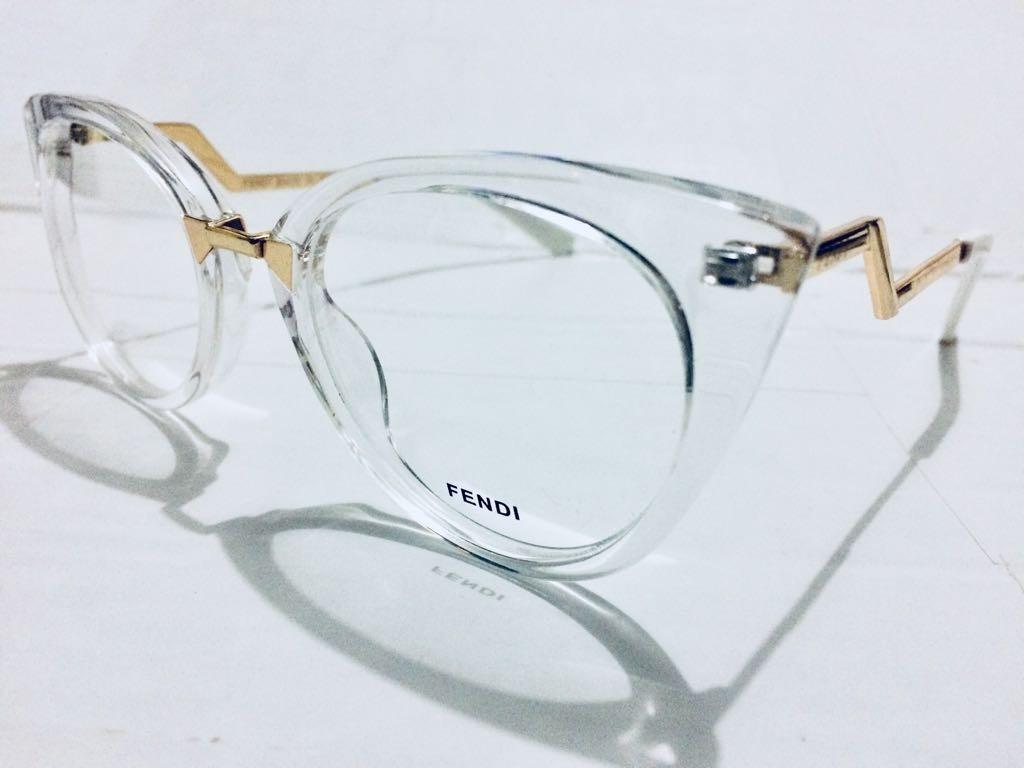 armação de grau fendi transparente oculos tendencia -fe113. Carregando zoom. d66adf8fbb