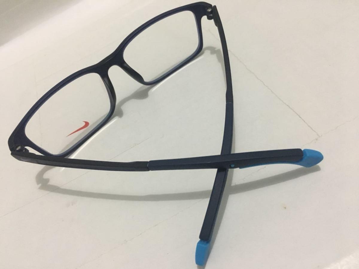 5b26c1faf armação de grau nike azul haste dobravel oculos sport -nk101. Carregando  zoom.