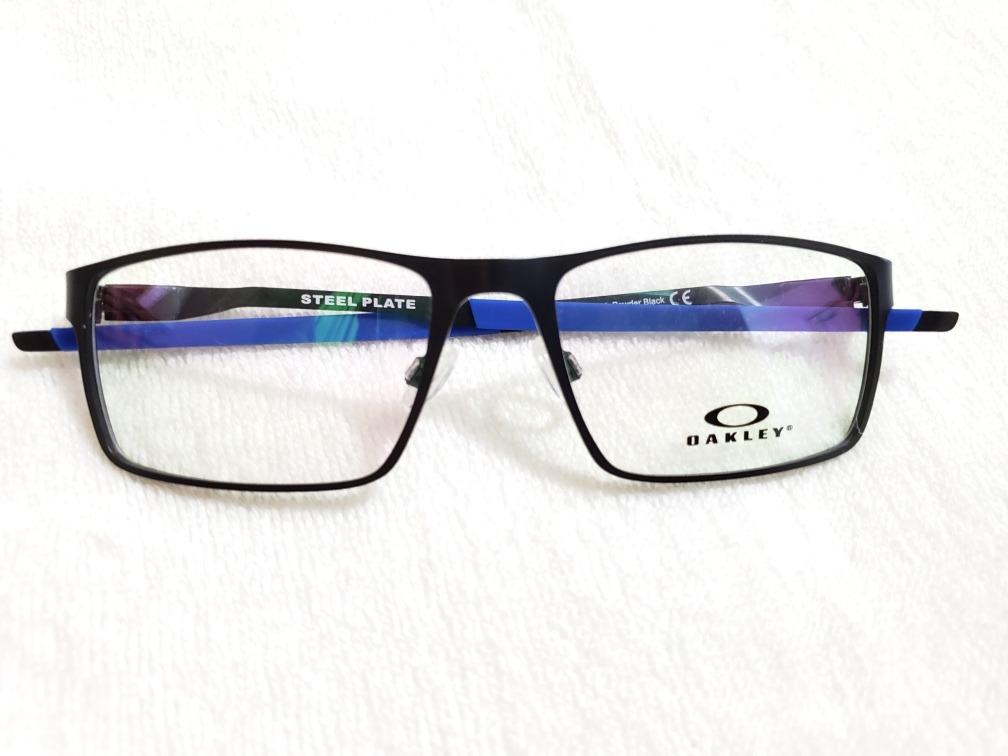 74401300b armação de grau oakley steel plate ox3232 preto com azul. Carregando zoom.