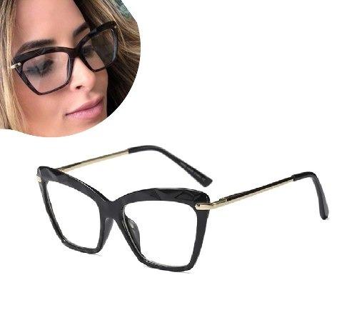 980164e30 Armação De Grau Oculos Feminino Barato Retrô Vintage Geek - R$ 64,99 ...