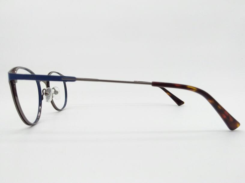 58c70eced armação de grau óculos redondo metal azul fosco 6638-c4. Carregando zoom.