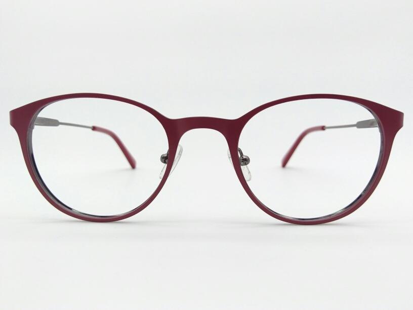 e2f389c7b5389 armação de grau óculos redondo metal vermelho fosco 6638-c3. Carregando zoom .