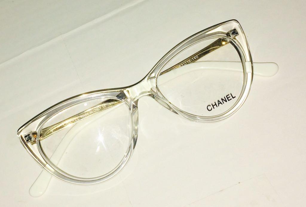 1ae4f3b91d5fd armação de grau transparente chanel oculos em acetato. Carregando zoom.