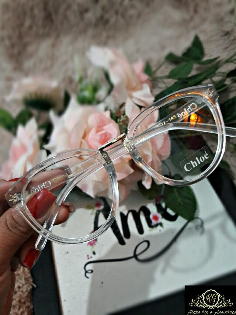 d4113957aa8a7 Armação De Grau Transparente Retro óculos - R  70,00 em Mercado Livre