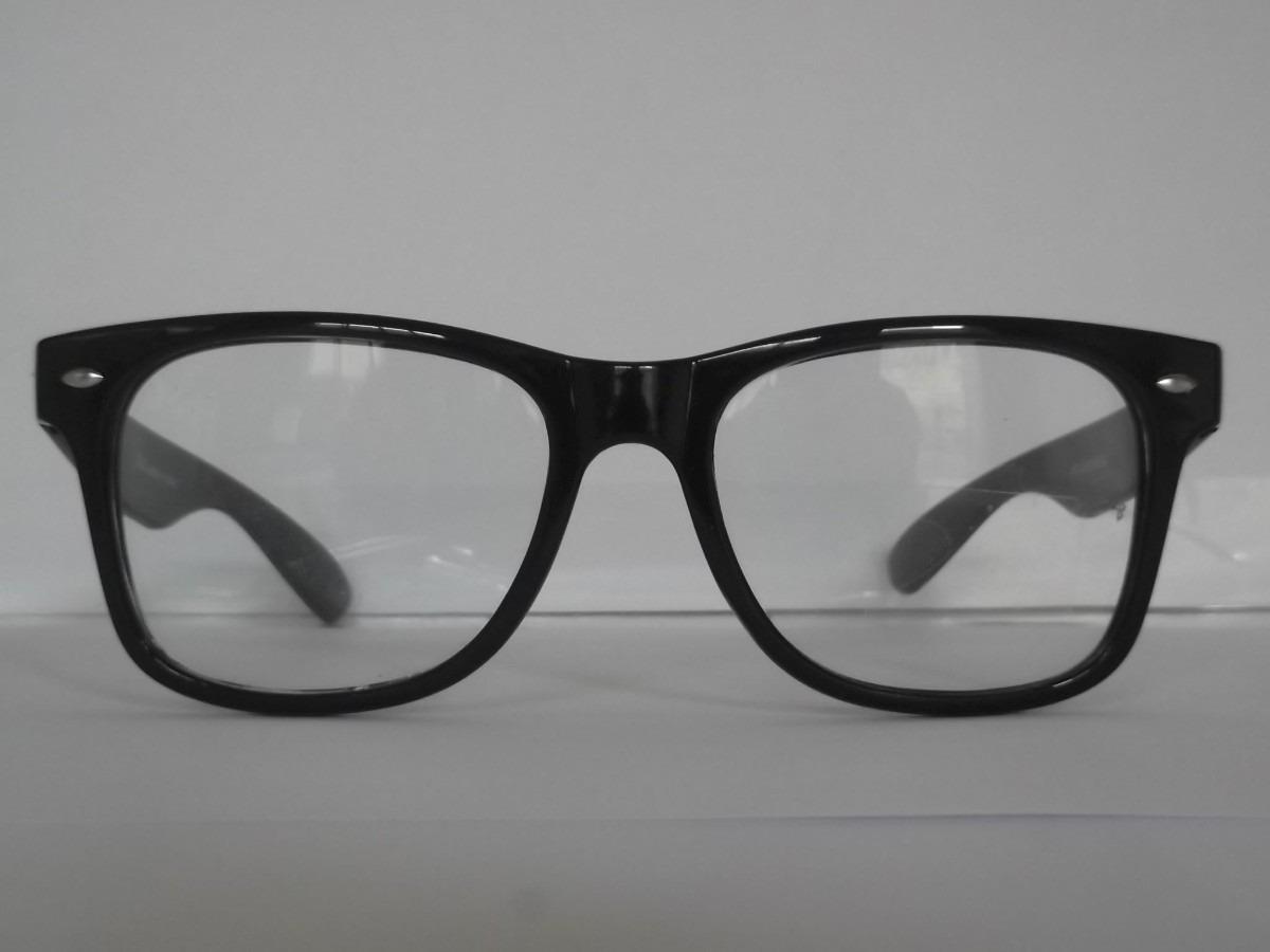 ec81d21c27864 armação de grau wayfarer retrô com lentes transparentes. Carregando zoom.