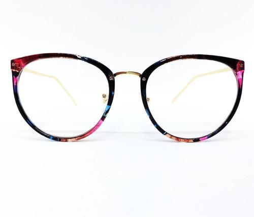 Armação De Luxo Redonda Para Óculos De Grau - Floral E - R  135,00 ... 843b418c73