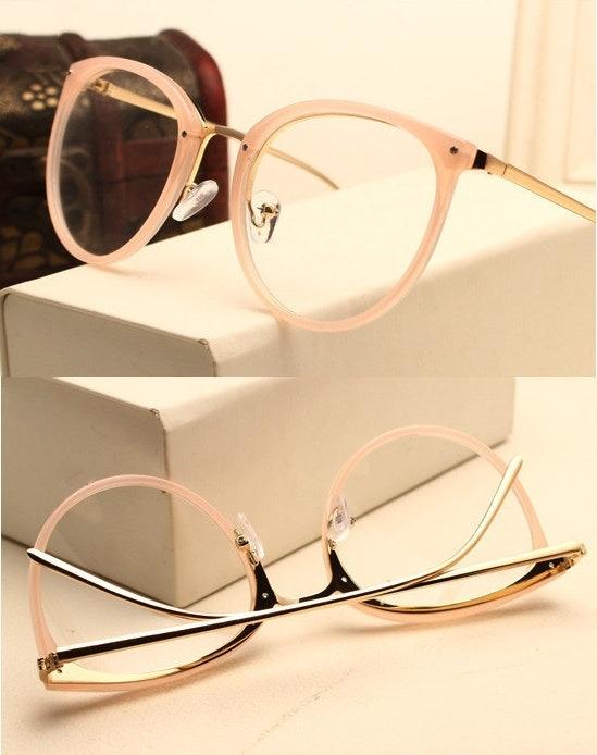 Armação De Luxo Redonda Para Óculos De Grau - Rosa - R  135,00 em Mercado  Livre e1aa105f5a