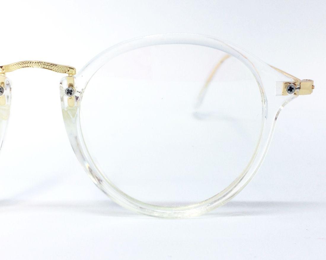 f0d9ec747c8bd armação de metal e acetato para óculos de grau- transparente. Carregando  zoom.