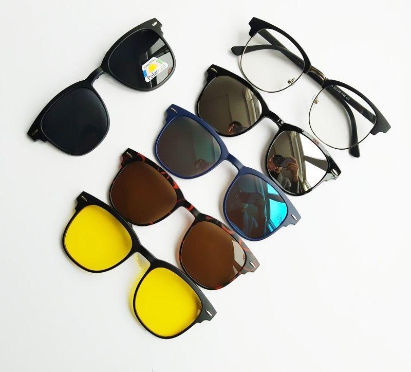 Armação De Óculos + 5 Lentes Clip On De Sol E Noturna - R  180,00 em ... e0aa04a040