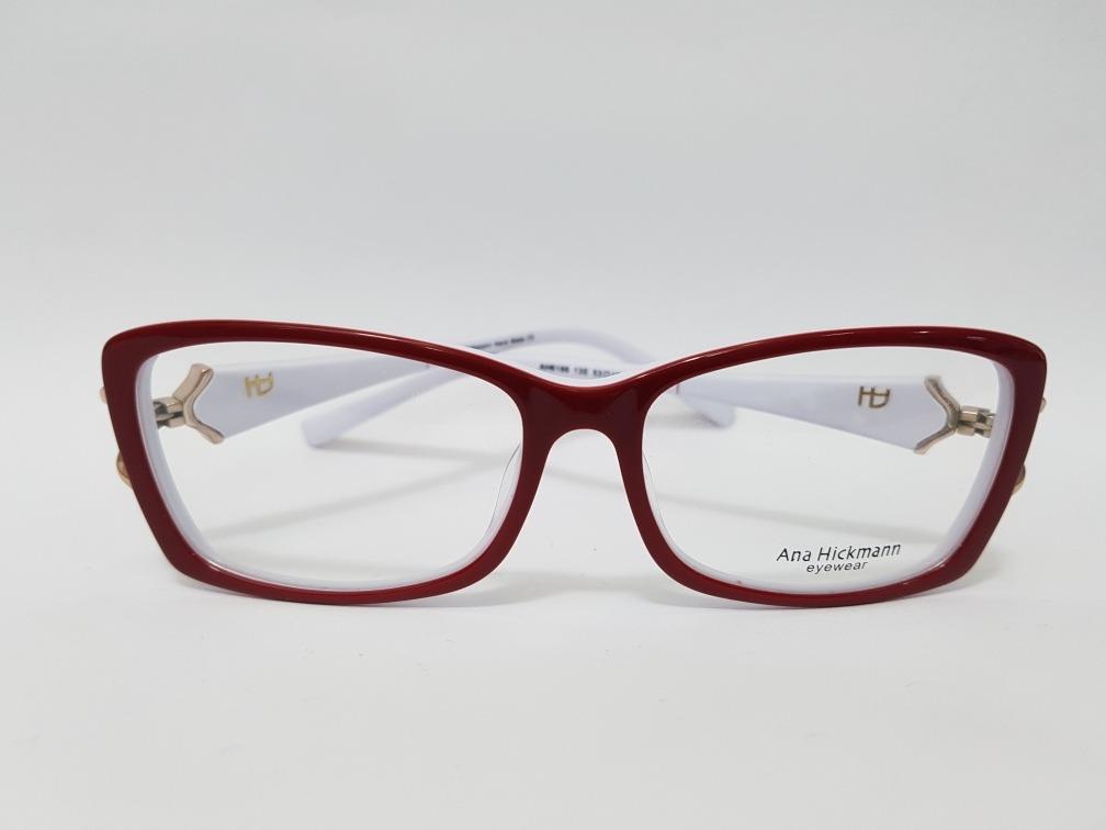 96f4a2a16874b armação de óculos ah clássica vira haste vermelha branca. Carregando zoom.