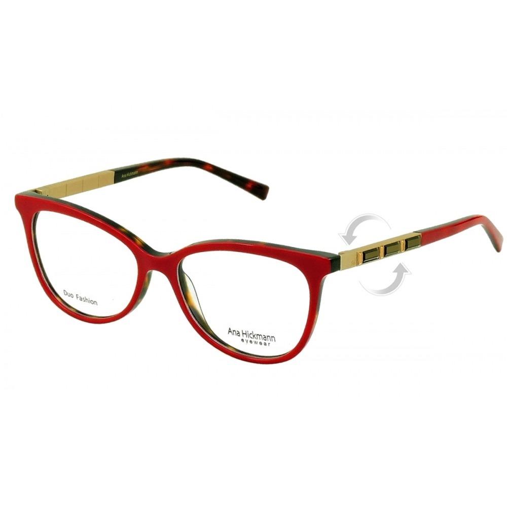 78bc79aefb533 armação de óculos ana hickmann ah6245 g22 52-16 140. Carregando zoom.
