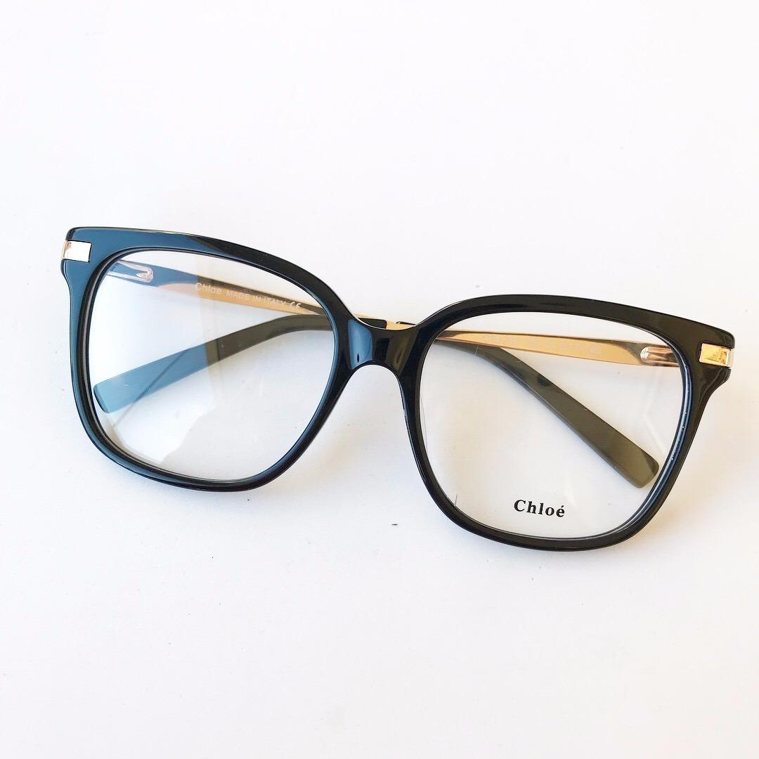 e931615e32e87 armação de óculos chloé de grau feminino importado cor preto. Carregando  zoom.