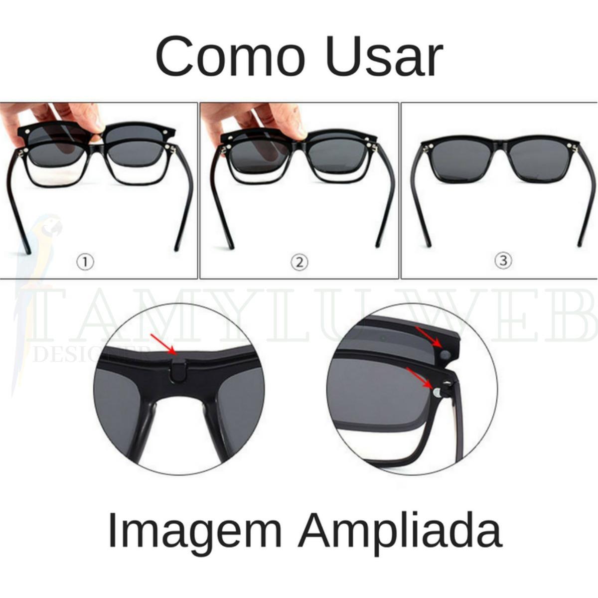 armação de óculos clip on polarizado e night driver promoção. Carregando  zoom. e44bf7f173