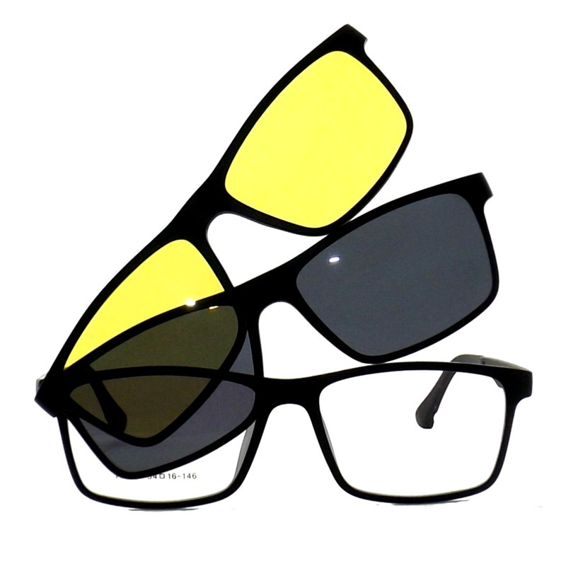 ab227a6e957e4 armação de óculos clip on polarizado e night driver promoção. Carregando  zoom.