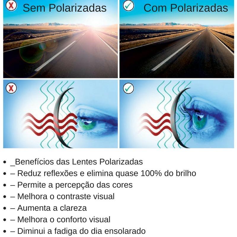 b10076fa4a Armação De Óculos Clip On Solar Polarizado - R$ 69,45 em Mercado Livre