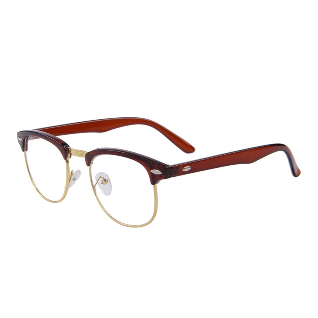 0c9f53df4 armação de óculos clubmaster estilo rayban marrom. Carregando zoom.