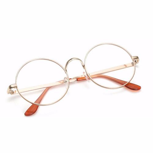 armação de óculos d grau metal redondo masculino feminino bp