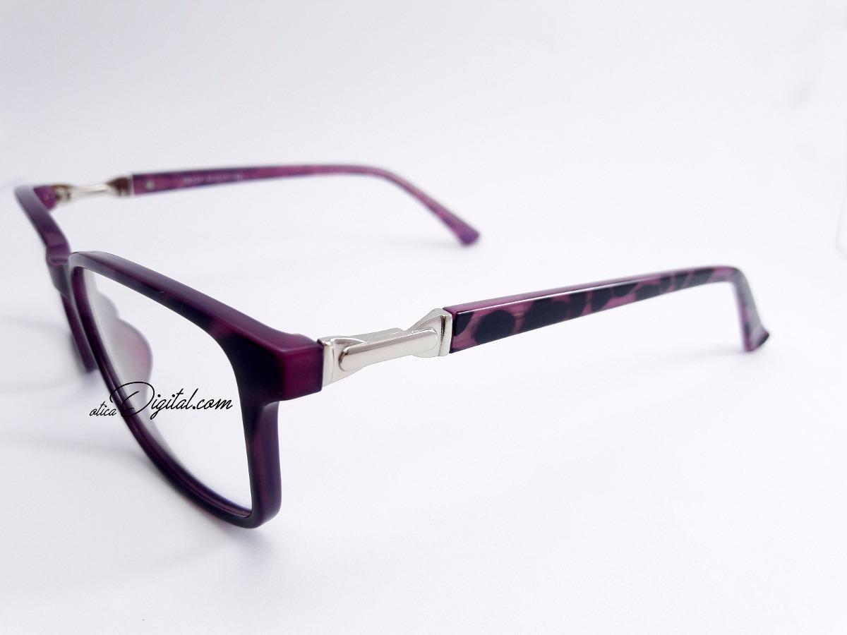 f75ea3ef7 armação de óculos de grau acetato feminino colorido mtr137. Carregando zoom.