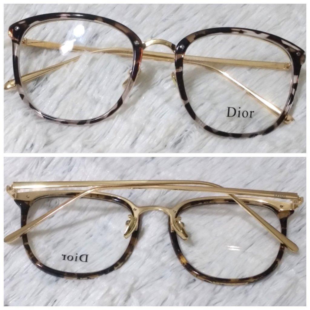 b3398bd45a6c3 Armação De Oculos De Grau Dior Oncinha Preto E Transparente - R  120 ...