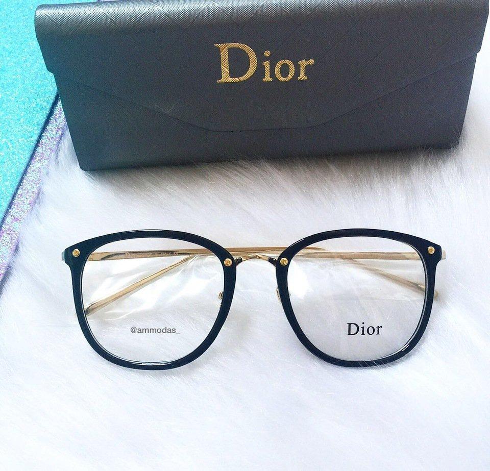 armação de oculos de grau dior preto com dourado quadrado. Carregando zoom. bebb883f06