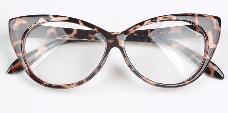 45d689a8198df Armação De Óculos De Grau Feminina Secretária Gato Onça !! - R  89 ...
