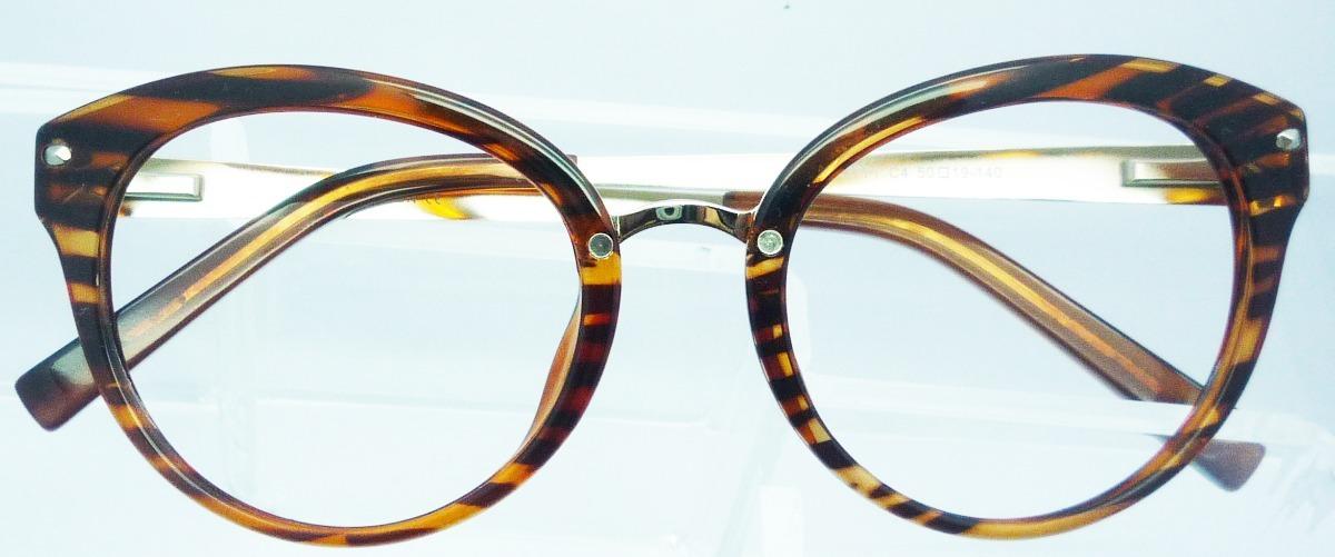 4648779b4 armação de óculos de grau feminino geek acetato com metal. Carregando zoom.