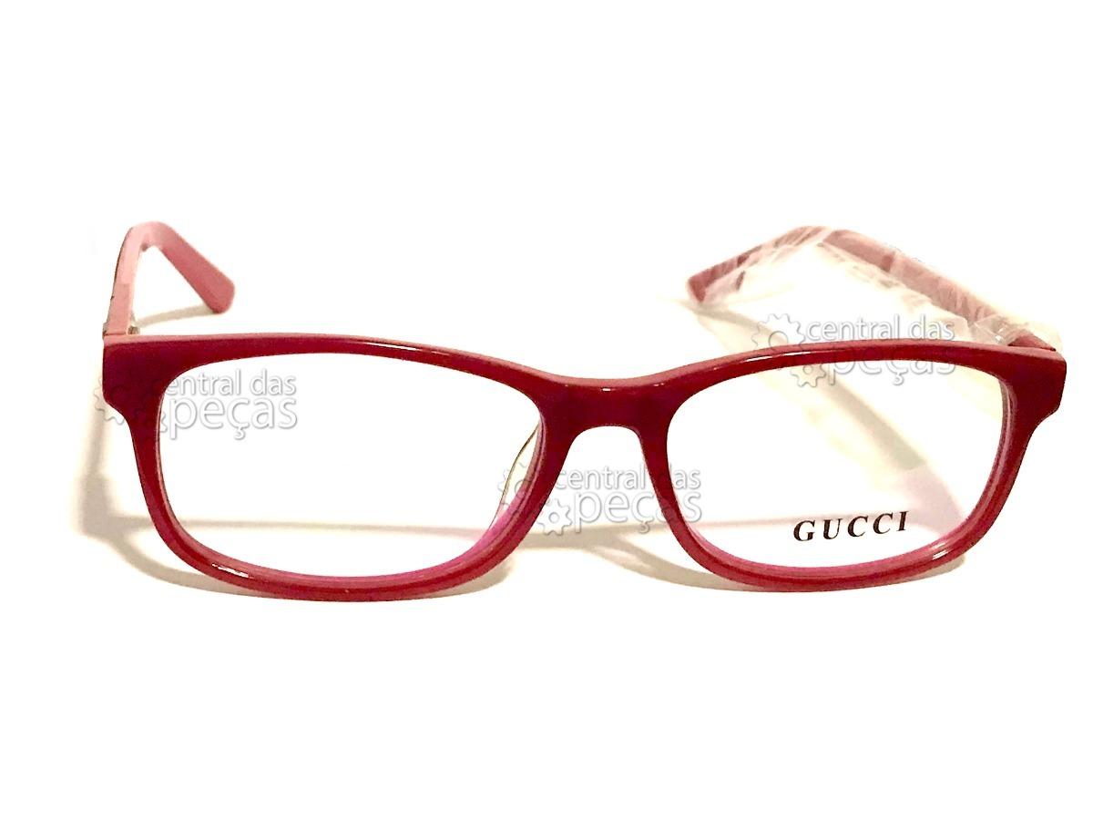 a9fa74e934e04 armação de óculos de grau gucci gg6124 vermelho marsala. Carregando zoom.