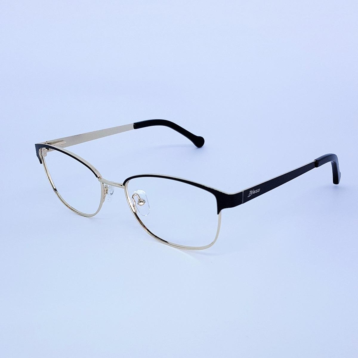 395d2df933cbd Armação De Óculos De Grau Metal Feminino Bless - R  118,00 em ...