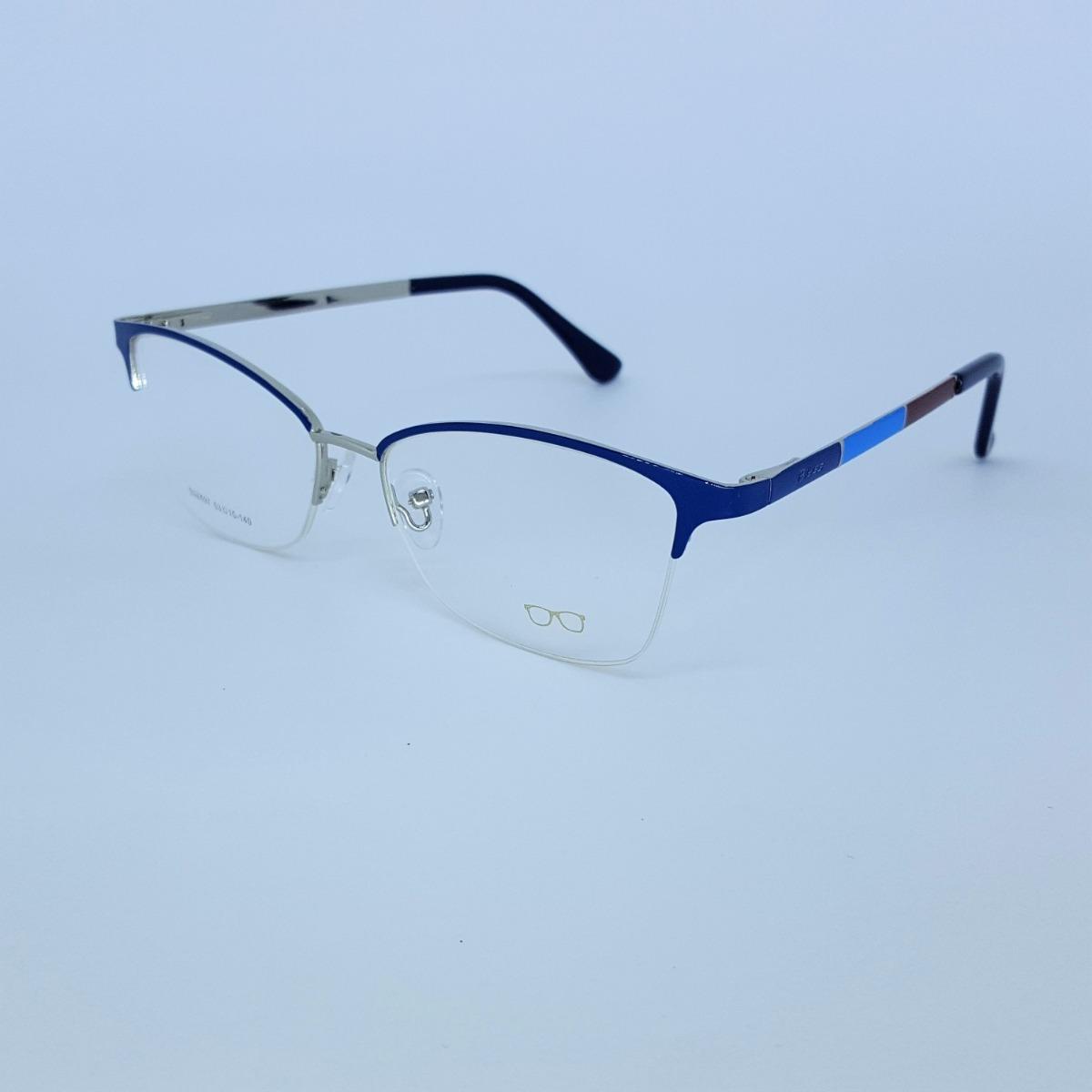 f7cee35504042 Armação De Óculos De Grau Metal Feminino Fio De Nylon - R  112,10 em  Mercado Livre