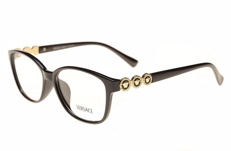 14631c0f3966c armação de oculos de grau versace preto dourado feminina. Carregando zoom.