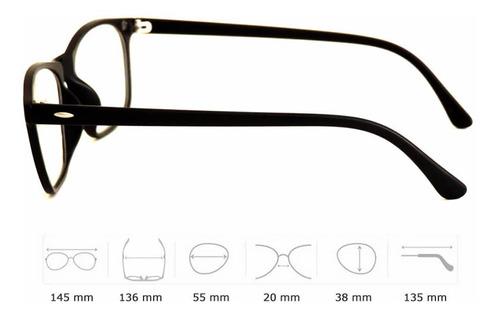 armação de óculos design moderno com clip magnético de sol