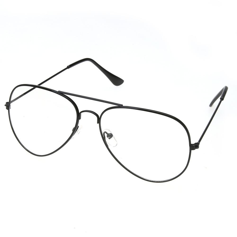dbbc715a7f7eb armação de óculos em metal estilo aviador. Carregando zoom.