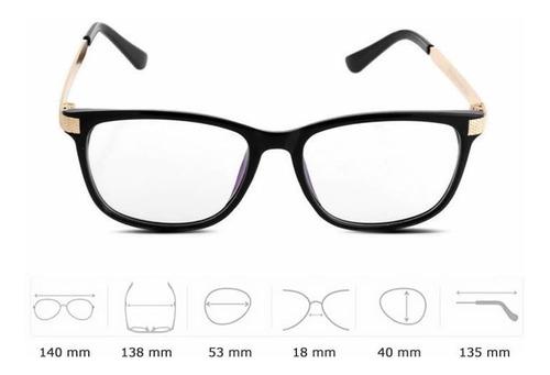 armação de óculos feminina em acetato e metal retrô fashion